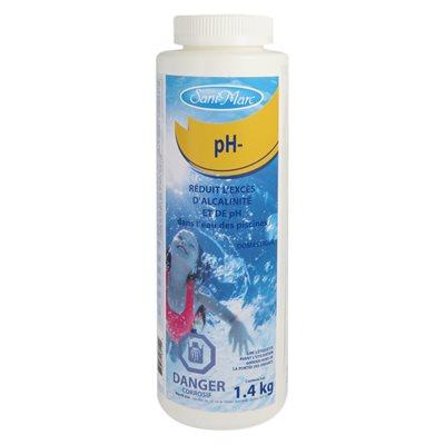 Diminue le pH (pH-)