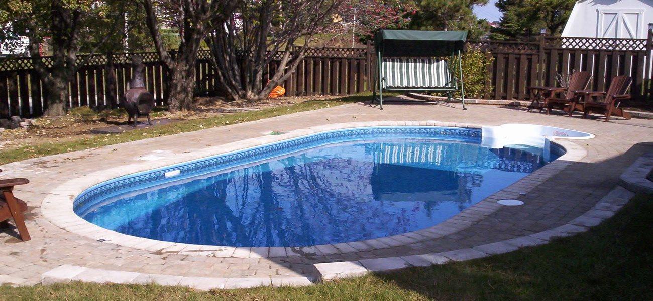 Inground pool at Matane